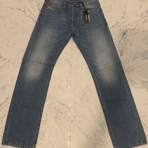 NWT Diesel Relaxed Straight Jeans Button Fly 29x32